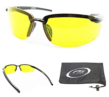 0bd8fc2e6c Image Unavailable. Image not available for. Color  ANSI Z87.1 Rimless Yellow  Sunglasses for Cycling ...