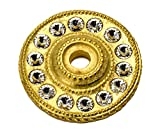 Carpe Diem Hardware 883-8C Cache Large Round Escutcheon Made with Swarovski Crystals, Gilded Mercury