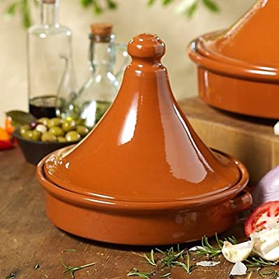 Tagine Terra Cotta Cookware (9 in tall x 10 in wide - serves 4)