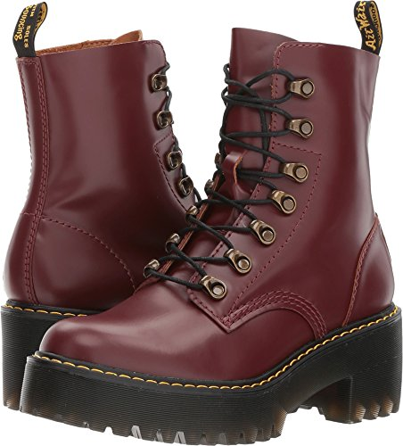 Dr. Martens Womens Leona 7 Tie Boot, Size: 10 B(M) US/8 F(M) UK, Color Oxblood Vintage Smooth