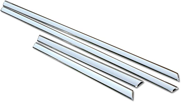 "8/"" Wide Cut To Fit ABS Universal Chrome Rocker//Pillar Post Trim"