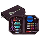 Sewing Kit for Kids, Beginners, Home, Travel & Emergencies. Most Useful Retractable Sewing Tape Measure & Travel Scissors Cover Protecting Your Fingers. Premium Sewing Supplies