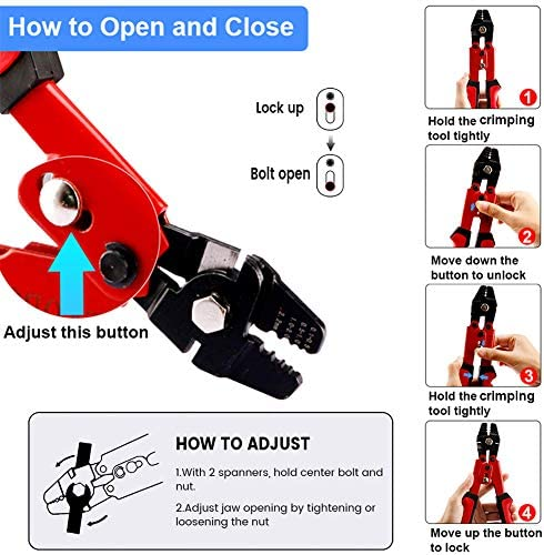 Details about  /Crimping Tool with Cutter Fishing Wire Crimping Pliers,Rig Making Corrosion
