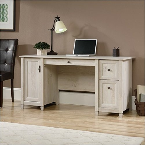 Pemberly Row Wood Computer Desk with Computer Storage and Keyboard Drawer, Chalked Chestnut by Pemberly Row