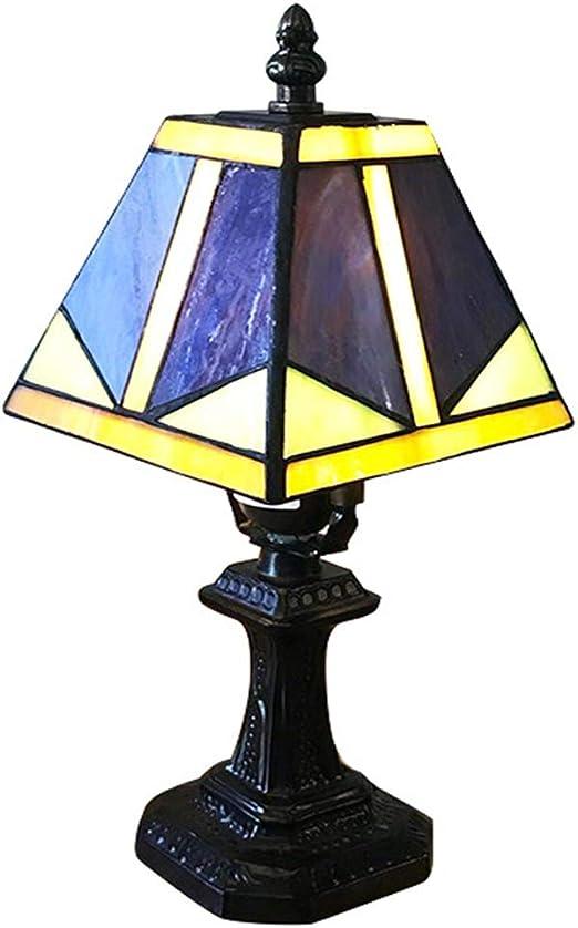 2020 Lámpara De Mesa Cuadrada De Vidrio Lámpara De Mesa Tiffany ...