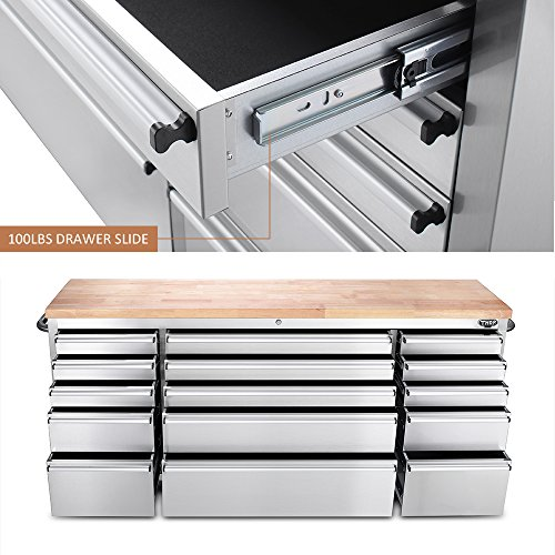 kitchen cabinet tools thor kitchen htc7215w 72 quot wide 15 drawer stainless steel 19693