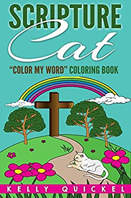 """Scripture Cat: """"Color My Word"""" Coloring Book"""