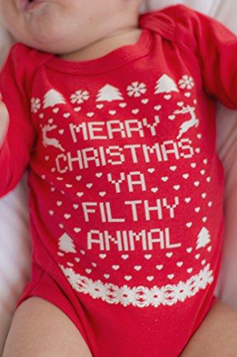 Little Adam & Eve - Merry Christmas Ya Filthy Animal Onesie ...