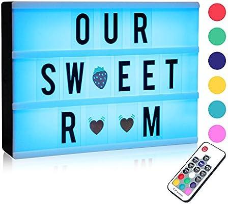 Caja de Luz de Cine LED, A4 Cinematic LED Box Cambio de Colore ...