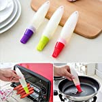 Ruimin 1pc Multifunction Silicone Grill Barbecue Baking Pastry Oil Honey Sauce Bottle Brush with Dispenser For Baking Grilling Basting Marinating 11 Not include toxic ingredients Easy to use,convenient to clean Ergonomics brush handle design,Simple and beautiful design