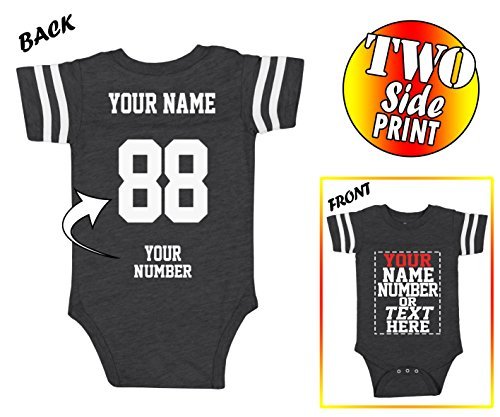 Custom Jerseys for Babies - Make Your OWN Jersey ONE-Piece Suits - Personalized Baby & Newborn Outfits ()