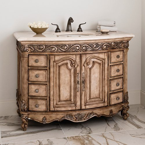 Provincial Silver Chest (Ambella Home Collections 06227-110-225 Light Provincial Medium Sink Chest)