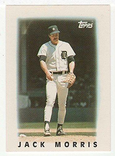 Amazoncom Jack Morris Baseball Card 1986 Topps Mini Leaders