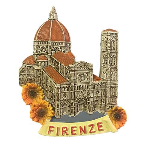 (Santa Maria del Fiore Florence Italy Fridge Magnet City Travel Souvenir Collection 3D Resin Handmade Craft Gift)