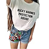 Bucky Barnes Protection Squad Casual Short Sleeve Women's T-Shirts -  hiphop tees