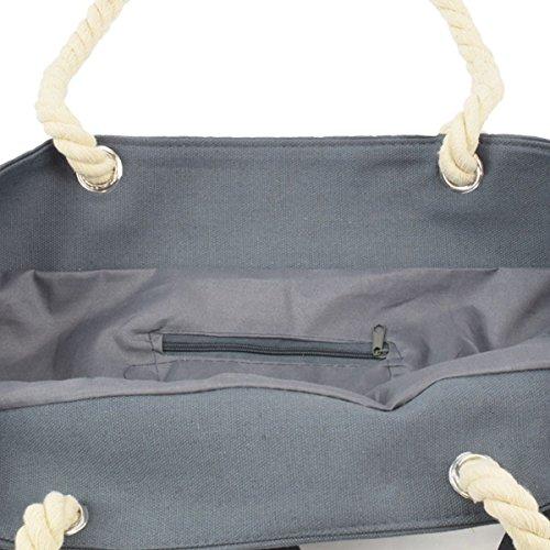 Sonia Originelli XL Strandtasche Anker Birgit Beachbag Shopper Farbe Dunkelgrau