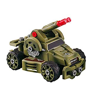Bambiya Take Apart Army Toy Truck Kit – Special Forces STEM Assembly Toy Play Set – Includes Over 2 Dozen Easy-to-Assemble Toy Car Parts and a Play Screwdriver – for Kids 3+ Years