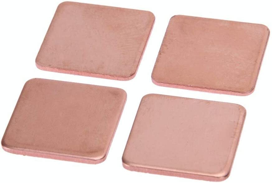 20pcs//lot 1515mm 1.2mm 1.5mm 1.8mm 2mm DIY Copper Shim Thermal Pad Heatsink Heat Sink Sheet For Laptop GPU CPU Chip RAM chipest 1.2mm thickness