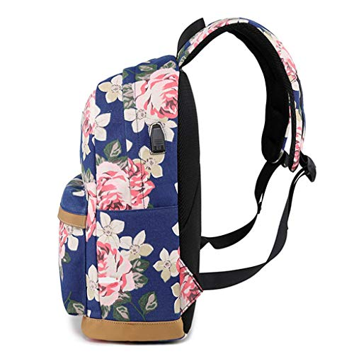 (Mbtaua Outdoor School Printed Computer Backpack with USB Port Charge Fits 17 Inch Laptop and Notebook)
