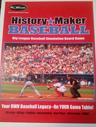 HISTORY MAKER BASEBALL Big League Baseball Gameシミュレーション型 ボードゲーム B07V49GRKP