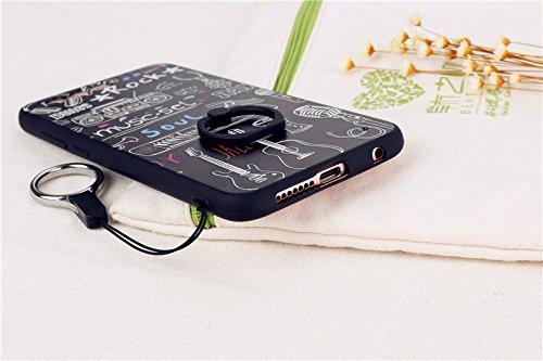 Cas De Téléphone Ou Des Couvertures Pour Huawei Honneur 9 Mignon De Bande Dessinée Longe Robe De Feuille De Tour Eiffel Conception Étui De Protection Avec Pare-chocs Tpu Et 360 Degrés Support D'anneau Rotatif (modèle: 1)
