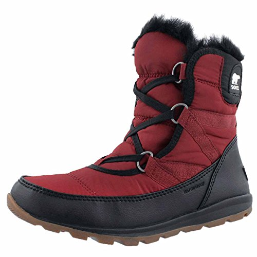 (SOREL Women's Whitney Short Lace Boot Red Element)