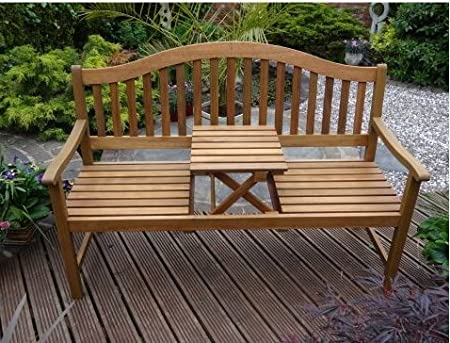 616666569b87 Entertaining Pop Up 3 Seat Table Garden Bench Kent Rose Rondeau Leisure  ersatile Piece Furniture Perfect
