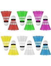 SOONHUA 12 stks Plastic Badminton Ballen Shuttlecocks voor Indoor Outdoor Sport Fitness Game Verschillende kleuren (12 stks)