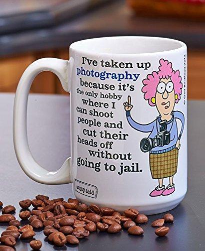 Aunty Acid™ Funny Sayiny Commedic Cup Jumbo 15 oz. Mugs (Photography Camera)
