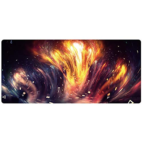 Bimor Extended Gaming Mouse Mat/Pad - Large, Wide (Long) Custom Professional Mousepad, Stitched Edges, Ideal for Desk Cover, Computer Keyboard, PC and Laptop (90x40 artfengjing024)