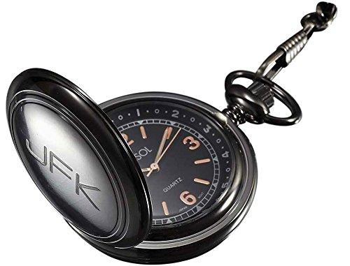 Mens Personalized Metal Watch (Personalized Visol Diesel Gun Metal Pocket Watch with Free Engraving)