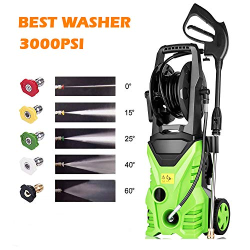 Homdox 3000 PSI 1.80 GPM Electric Pressure Washer, Electric Power Washer with 5 Quick-Connect Spray