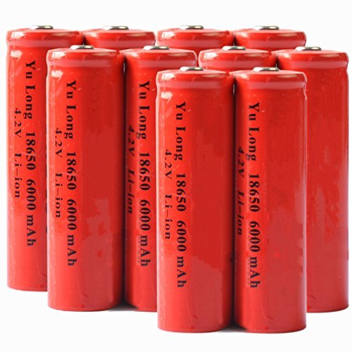 10 4.2V 18650 Li-ion 6000mAh Rechargeable Battery for RC toy LED Torch