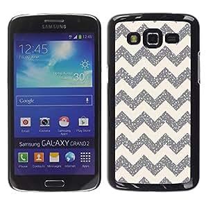 For Samsung Galaxy Grand 2 II / SM-G7102 / SM-G7105 Case , Pattern Silver Sparkle Stars - Diseño Patrón Teléfono Caso Cubierta Case Bumper Duro Protección Case Cover Funda