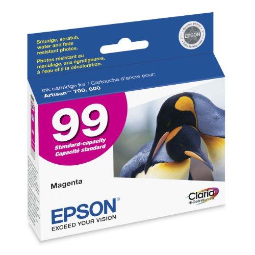 Magenta Epson - Epson Claria Hi-Definition 99 Standard-capacity Inkjet Cartridge (Magenta) (T099320)