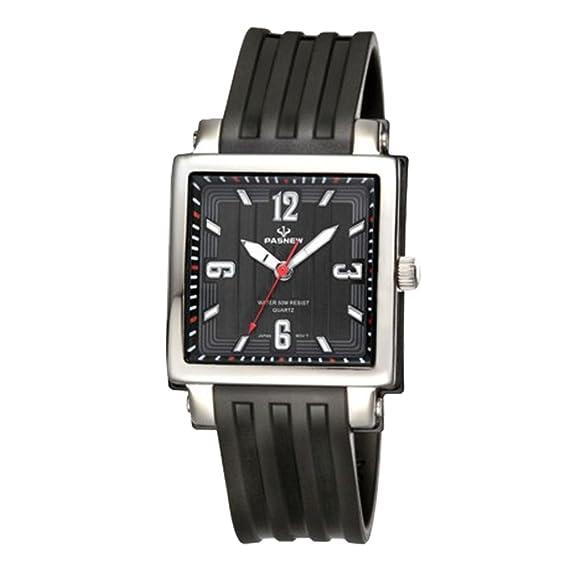 Los estudiantes miran/Chica chicas moda relojes cuadrados-negro: Amazon.es: Relojes