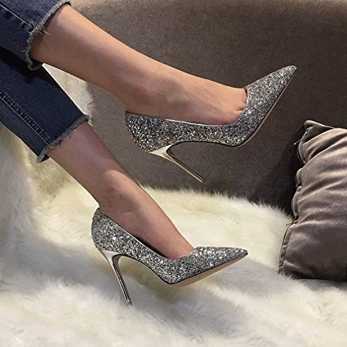 High-Heeled Shoes with Pointed Crystals C DTaNIBJ4