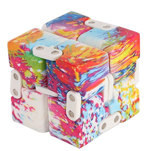 NBDN Infinity Cube Pressure Reduction Toy - Infinity Turn Spin Cube Edc F- Killing Time Toys Infinite Cube For ADD, ADHD, Anxiety, and Autism Adult and Childre