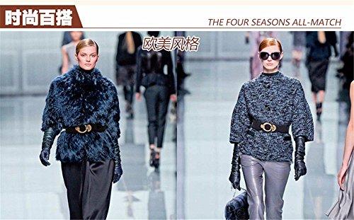 SAIBANGZI Ms Women All Seasons Elastic Waist Seal Fashion Matching Coat Belt Elastic Rhinestones Leather Decoration Girlfriend Present Blue 69-87Cm by SAIBANGZI (Image #2)