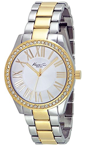 Kenneth Cole NY Women's Crystal Accent Two Tone Stainless Steel Watch 10029551