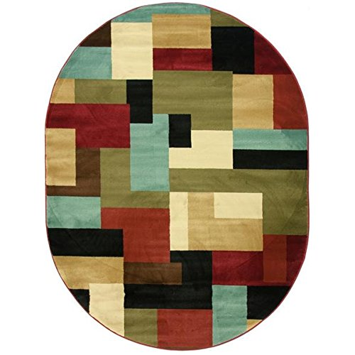 - Imperial Mosaic Multicolor Geometric Modern Casual Area Rug 5x7 ( 5'3