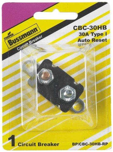 Bussmann  Bp Cbc 30Hb Rp  30 Amp Type I Stud Mount Circuit Breaker With Lengthwise Bracket