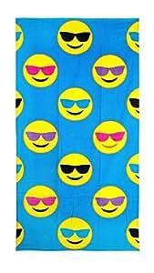Emoji Beach Towel - Cool Guy