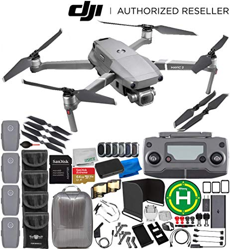 DJI Mavic 2 Pro Drone Quadcopter with Hasselblad Camera 1″ CMOS Sensor 4-Battery 64GB Ultimate Everything You Need Bundle