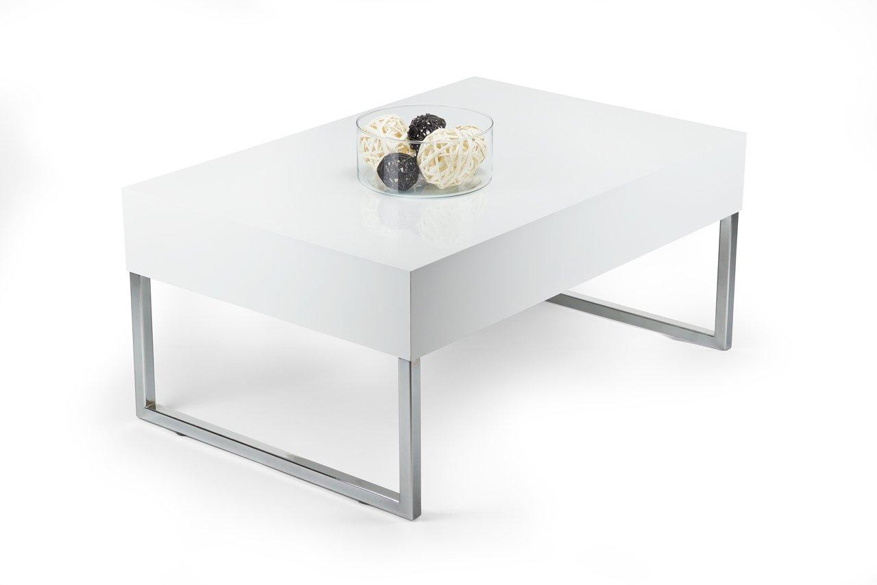 mobilifiver Evo Xl Table de salon, bois, blanc brillant, 90x 60x 40cm