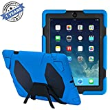 IPad Case - TRAVELLOR Anti-Scratch Slim Light weight Smart Stand Cover Protector with Auto Wake/Sleep for iPad 4th Generation, iPad 3 Cases and Covers & iPad 2 Cover Support (Dark Blue/Black)