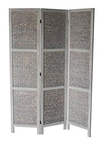 Milton Greens Stars Zane Standard 3-Panel Room Divider, Gray by Milton Greens Stars