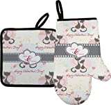 RNK Shops Cats in Love Oven Mitt & Pot Holder (Personalized)