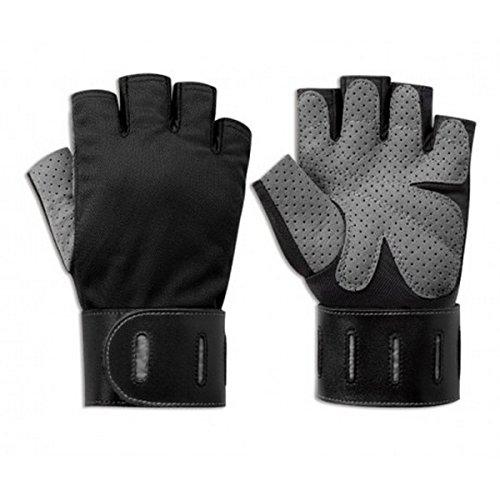 Body Sculpture BW-88-B Aerobic Gloves - Black/Grey (Medium)