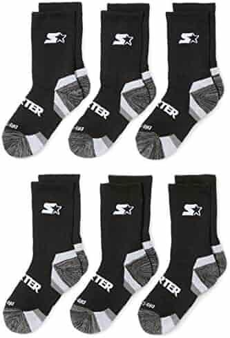 Starter Boys' 6-Pack Athletic Crew Socks, Prime Exclusive